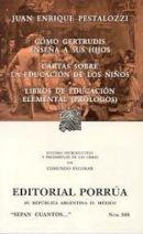 Como Gertrudis enseña a sus Hijos, Cartas sobre la educación de los niños, Libros de educación elemental