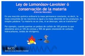 Ley Lomonsov-Lavoisier